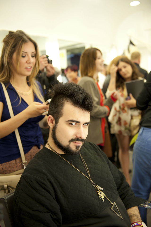 hair chalk, l'oreal, hair stylist, hairstyling, federico faragalli, gloria rovere