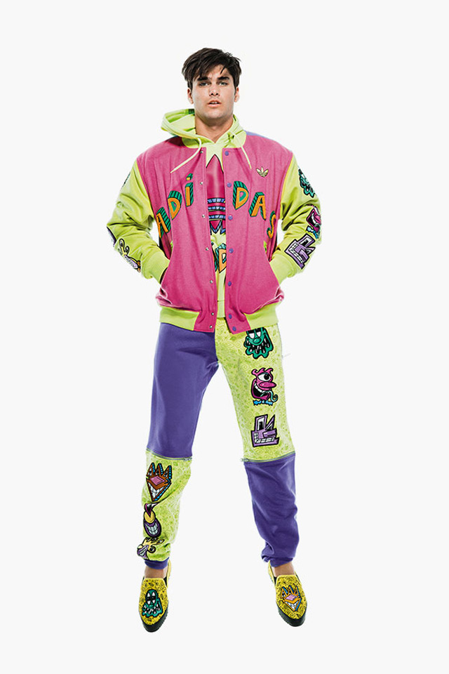 fashion blogger uomo, guy overboard, men fashion, fashion blogger roma, jeremy scott, adidas original, fall winter 2014, fw2014, collection, denim, kenny scharf