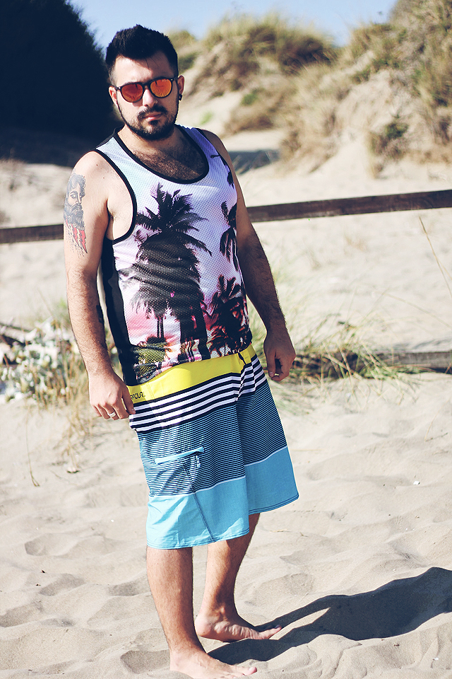 hoodboyz, fashion blogger uomo, fashion blogger roma, guy overboard, men fashion, outfit, men outfit, fashion blogger outfit, rip curl, boardshort, costume da mare uomo, mirage process, nd italia, excape