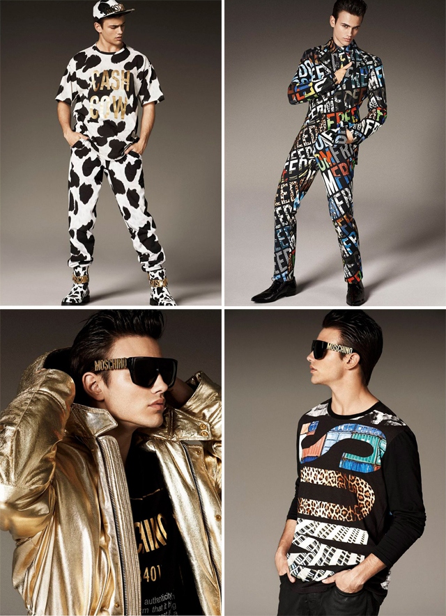 moschino, jeremy scott, mc donald, uomo, men, man, collection, lookbook, fall, winter, 2014, segio carvajal, giampaolo sgura