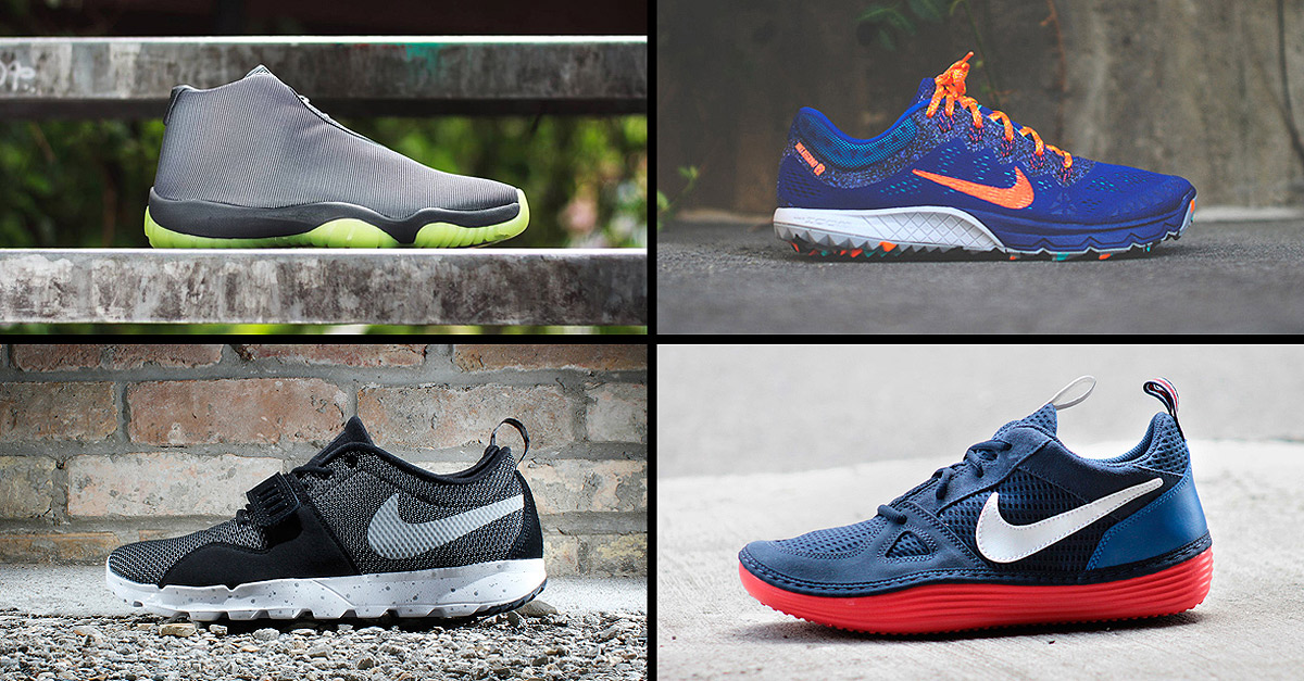 5 best sneakers of the year: Nike Sportswear Suit & Tie, Nike Solarsoft Run, Trainerendor Nike SB, Nike Terra Kiger 2 Blorange, Nike Air Jordan Future.
