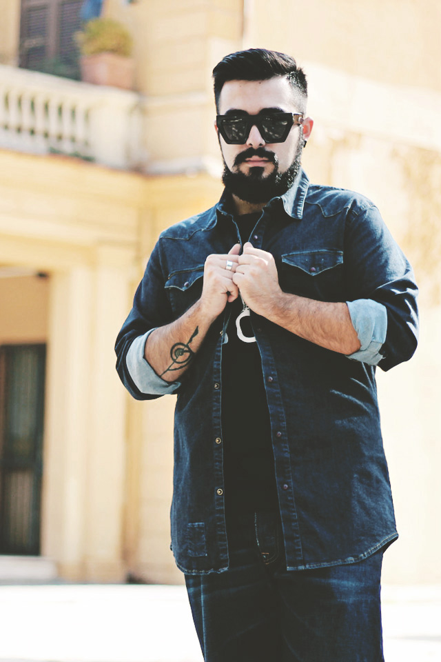 fashion blogger roma, outift, guy overboard, 2m, two men in the world, 2w2m, denim, jeans, made in italy, japan, kuroki, total denim, fashion blogger uomo