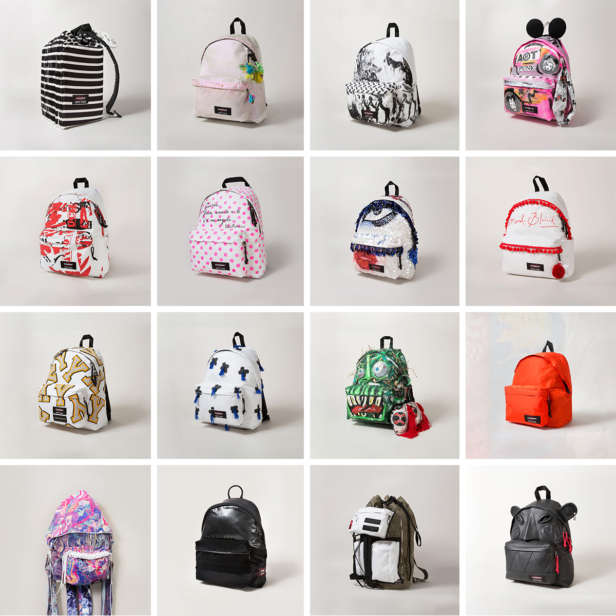 For 2014 Eastpak Artist Studio has provided some of the biggest names in fashion. The proceeds will be donated to the organization Designers Against AIDS.