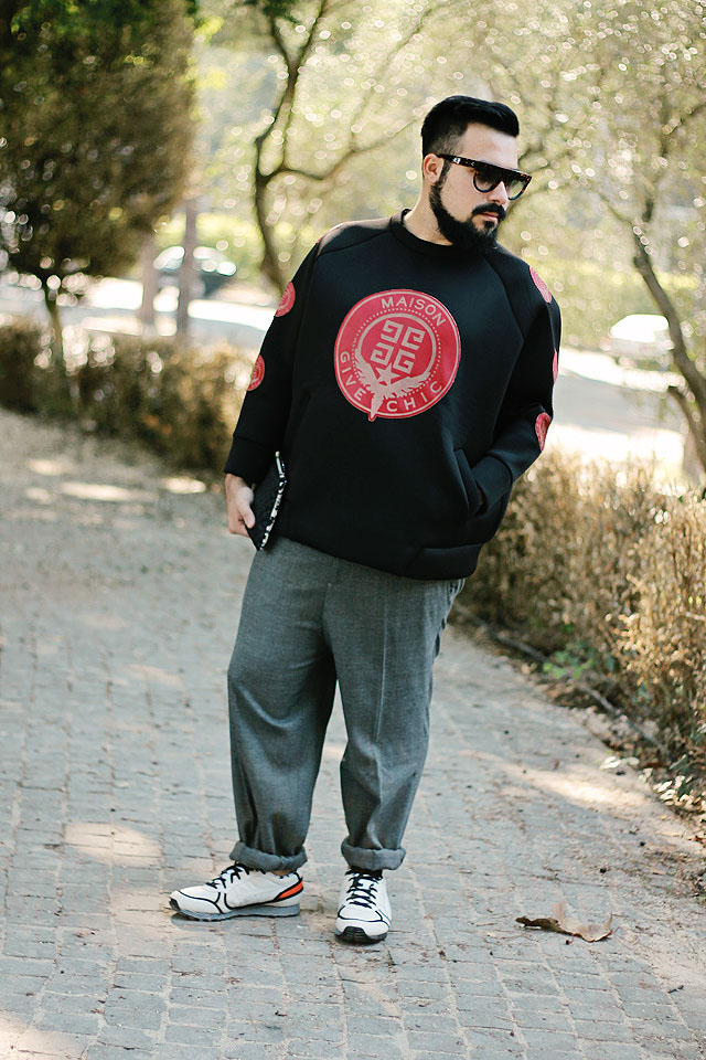 outfit, fashion blogger, roma, uomo, trainers, scarpe, shoes, sneakers, onitsuka tiger, andrea pompilio, himalaya, minimum, 2 di picche recycled, celine, guy overboard