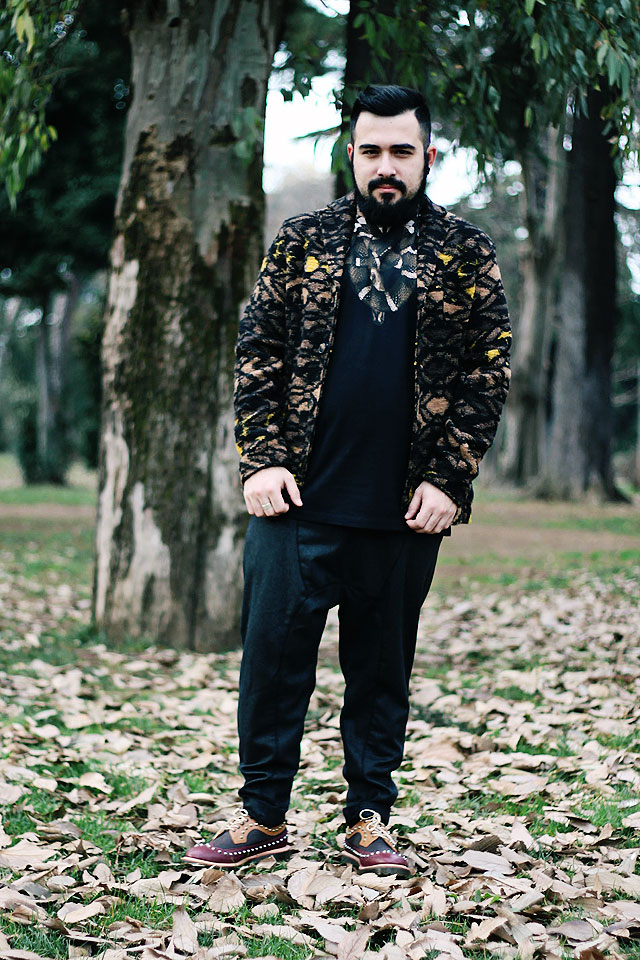 outfit, fashion blogger uomo, fashion blogger roma, marcelo burlon, moon snake, brown t-shirt, dallon brogue studded shoes, guy overboard