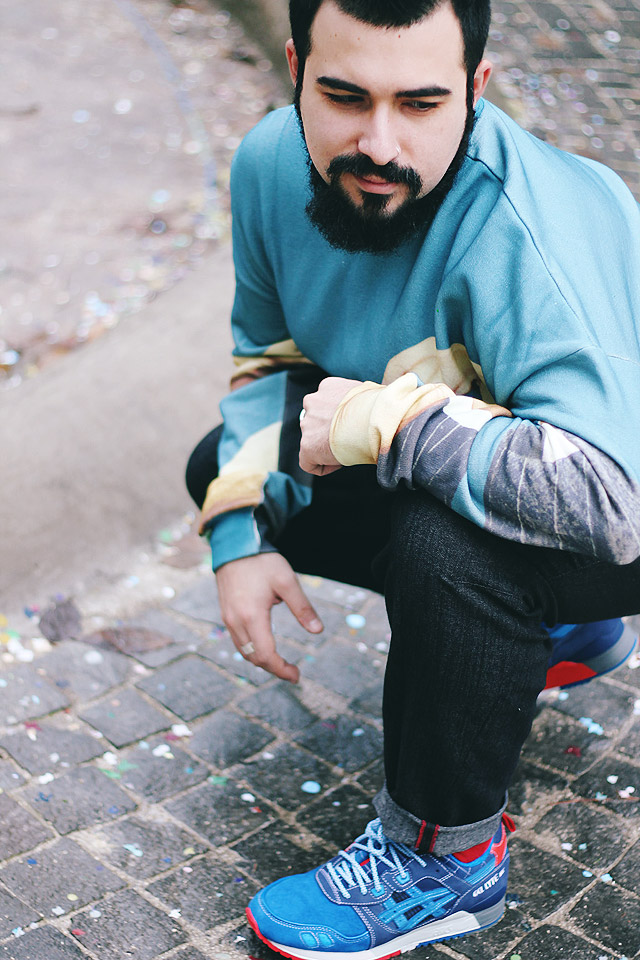 outfit, fashion blogger, asics, gel lyte iii, mita sneakers, msgm, toilet paper, lipstick, rossetti, felpa