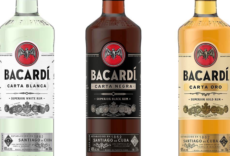 bacardi, rum, nuove bottiglie, carta blanca, carta oro, carta negra, Juan Piñera, Steve Schneider