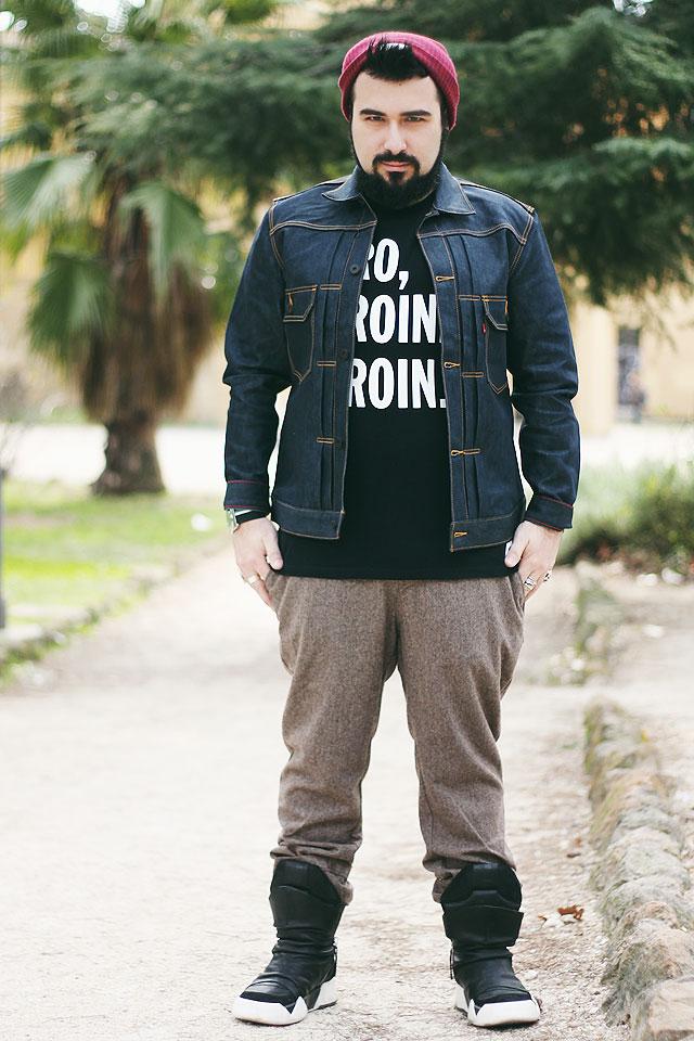 wood wood, hero heroine heroin, tshirt, levis, type 2 jacket, promod, tweed, cinzia araia, hm