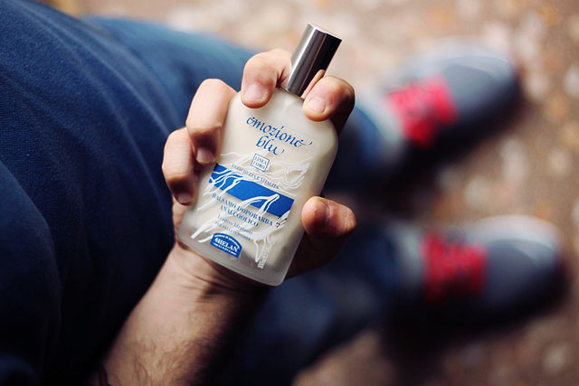 farmateca, prodotti uomo, barba, mousse rasatura, homme lierac, gel doccia, balsamo dopobarba, emozione blu, helan