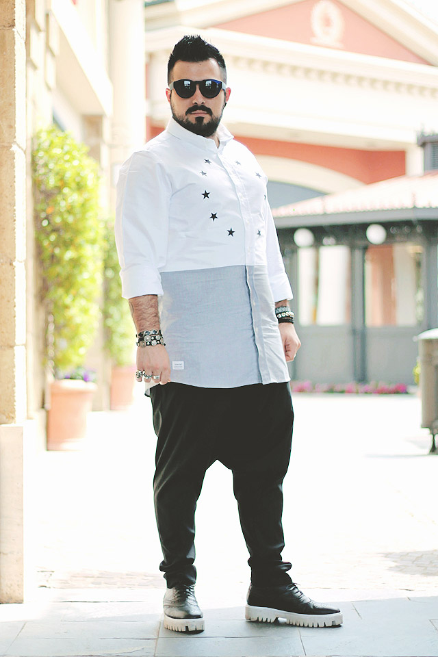 outfit, fashion blogger uomo, guy overboard, fashion blogger uomo, drmtm, de la luxe shirt, camicia, jessica buurman, lamu sunglasses