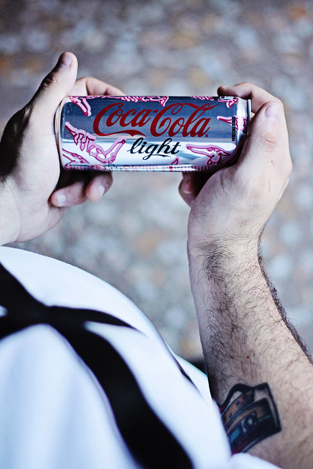 coca cola light, trussardi, elegantly cool