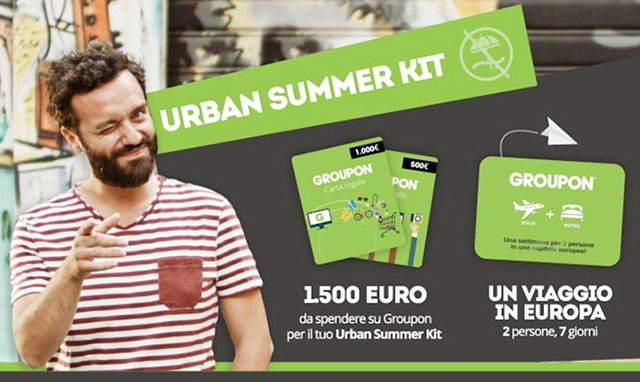 groupon, urban summer kit, restate in città, sconti, offerte, concorso