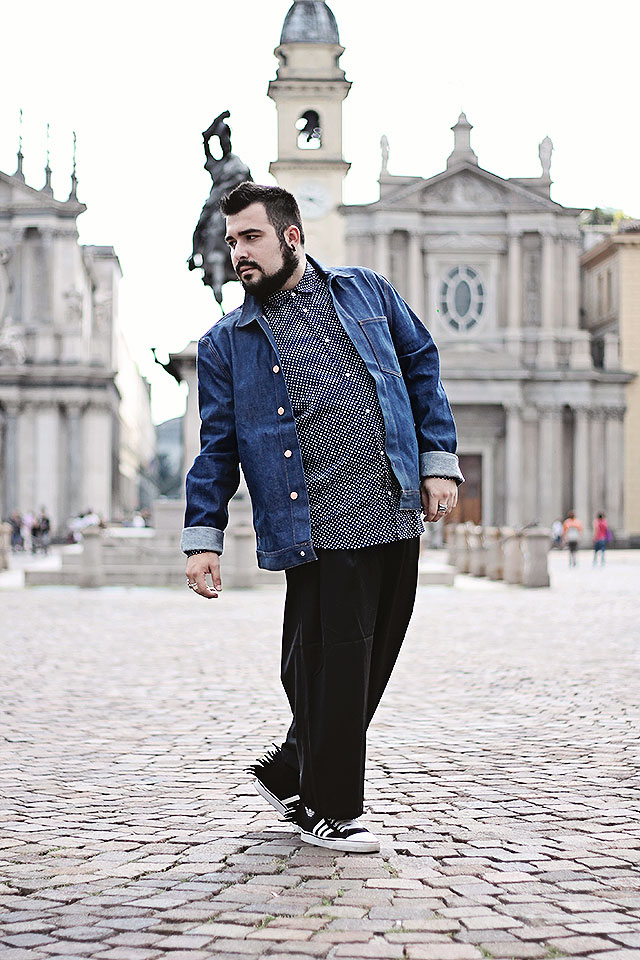 topman, denim collection, ltd core selvedge denim jacket, outfit, fashion blogger uomo