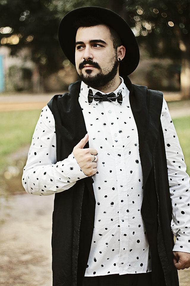 outfit, fashion blogger uomo, fashion blogger roma, printie, papillon pvc, papillon trasparente, pvc bow tie