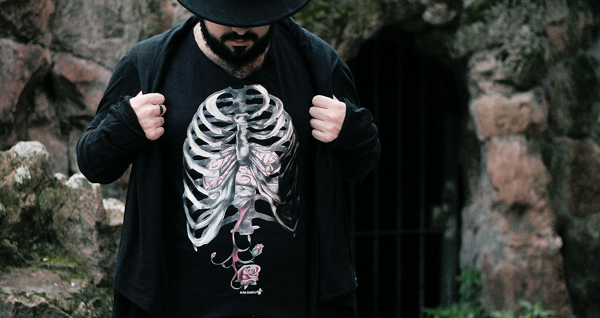 outfit, fashion blogger uomo, alma gemelli, maglietta costola, maglietta stampa raso, stampa disegno matita