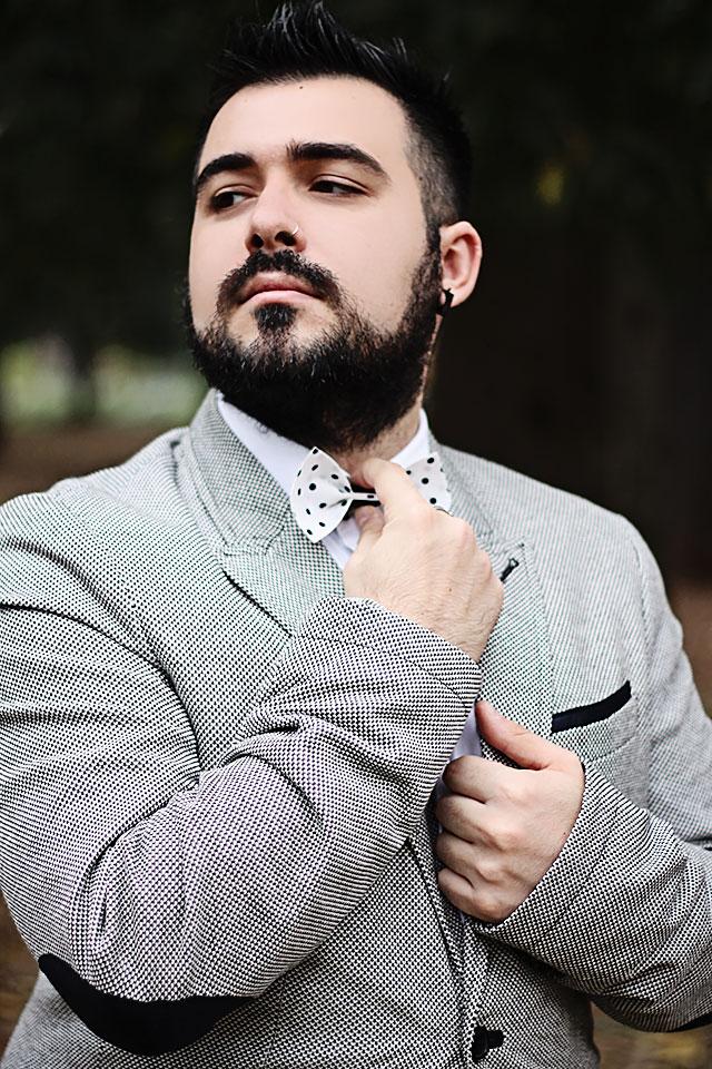 outfit, fashion blogger uomo, fashion blogger roma, akuto, papillon myfi, papillon elegance pois blu, guy overboard