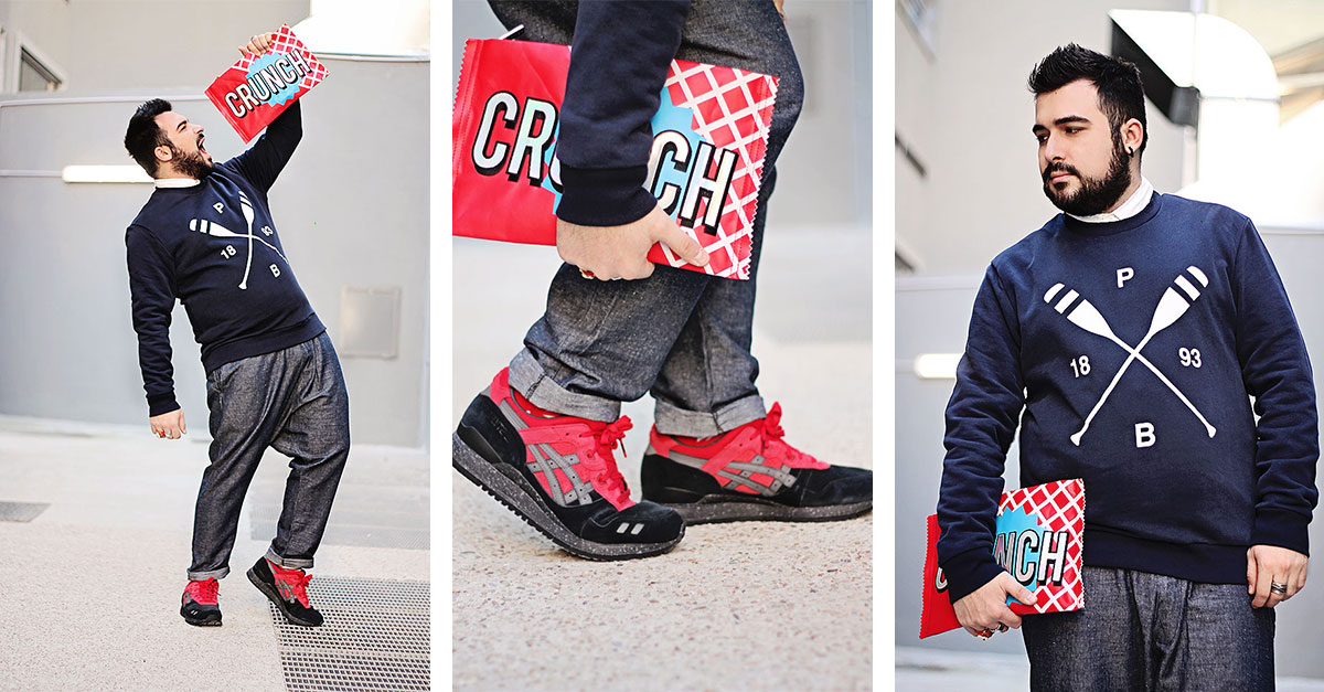 asics tiger, gel lyte, christmas pack, guy overboard, fashion blogger uomo, outfit uomo, fashion blogger roma