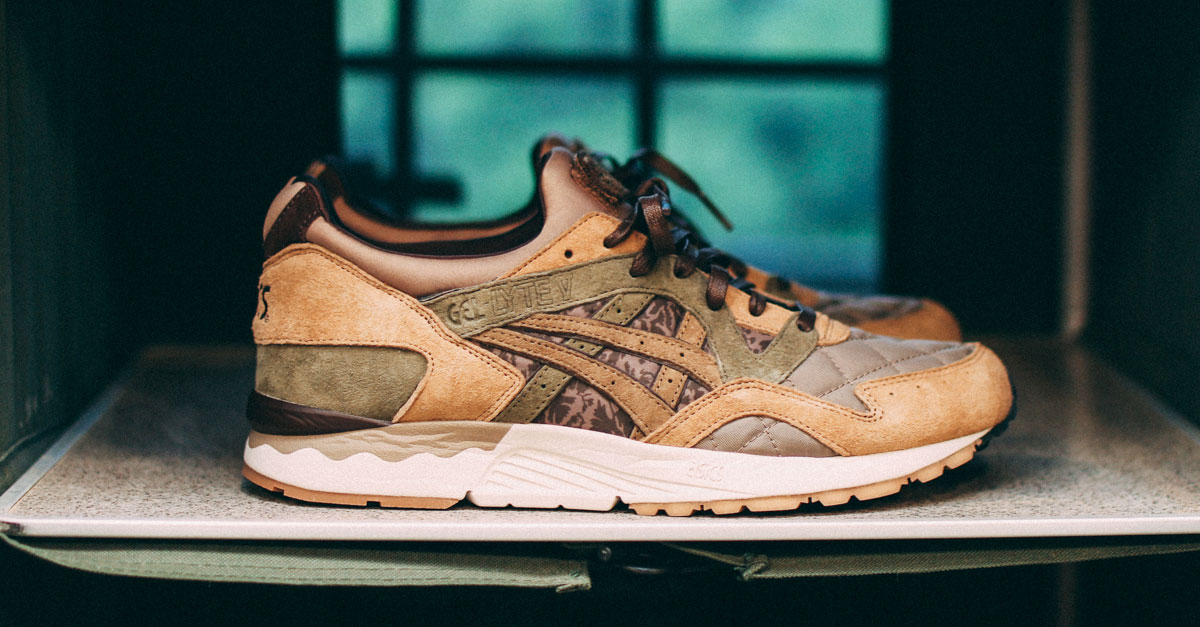 "Kicks Lab collaborates once again with ASICS Tiger and SBTG artist for the new ASICS Gel Lyte V ""Phys Ed"""