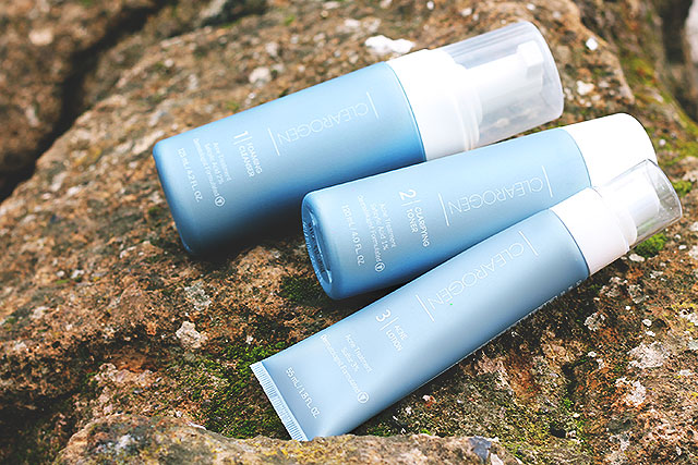 salustore, clearogen, trattamento acne, schiuma detergente, tonifico depurante, lozione anti acne