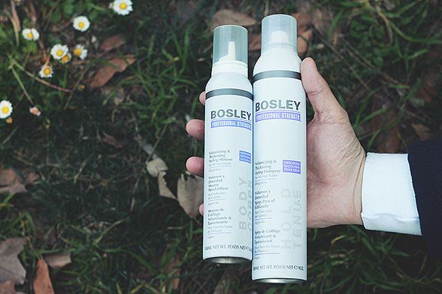 salustore, capelli in ordine uomo, bosley styling hairspray, bosley styling mousse