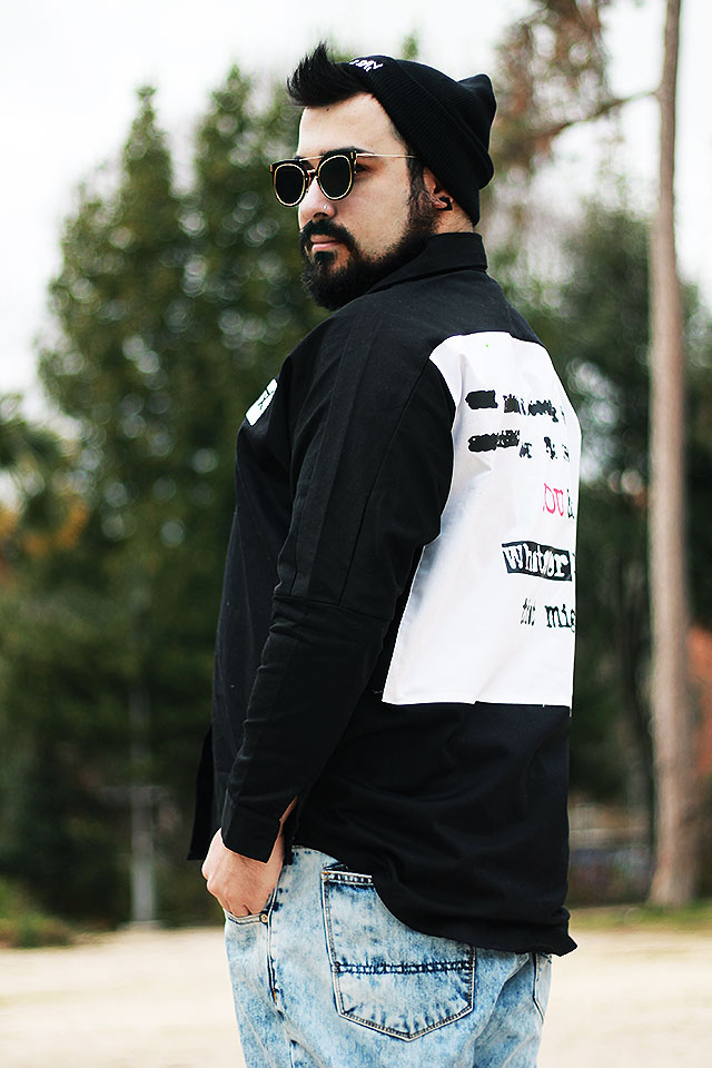 newchic, outfit, guy overboard, fashion blogger uomo, agrestix camicia punk, bad hair day cappello