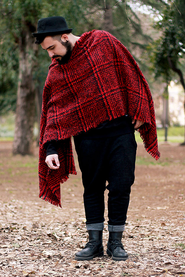 newchic, sciarpa plaid uomo, outfit, guy overboard, fashion blogger uomo, plaid scarf, les artists