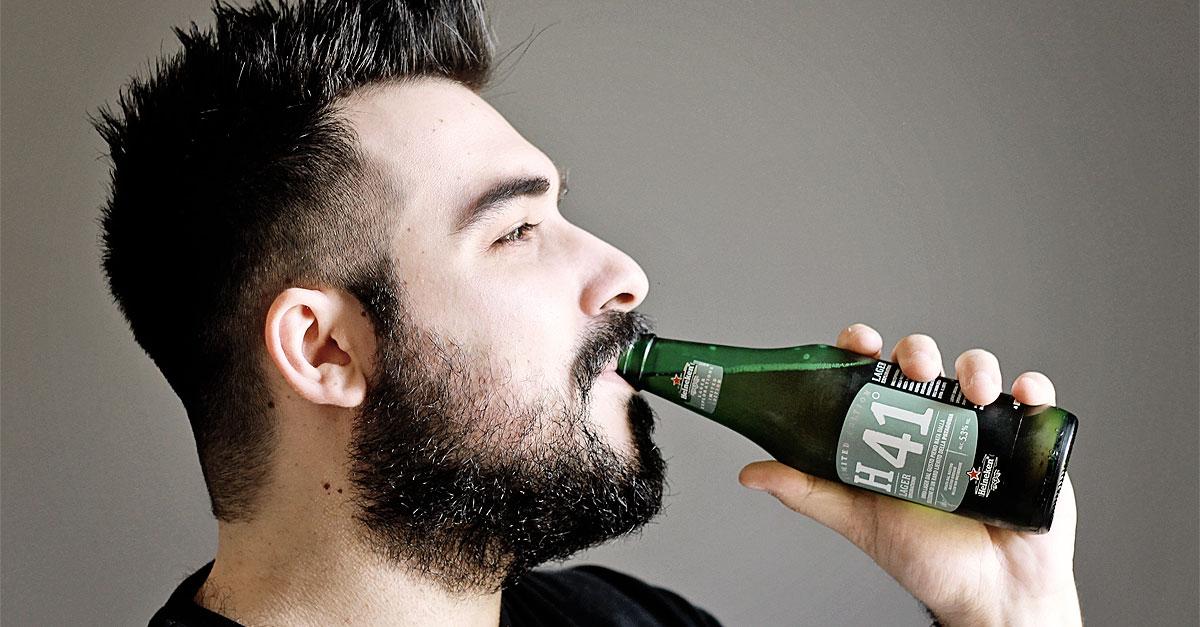 Heineken H41 è la prima birra lager in edizione limitata dal gusto pieno nata dalla selezione di un raro lievito selvaggio della Patagonia