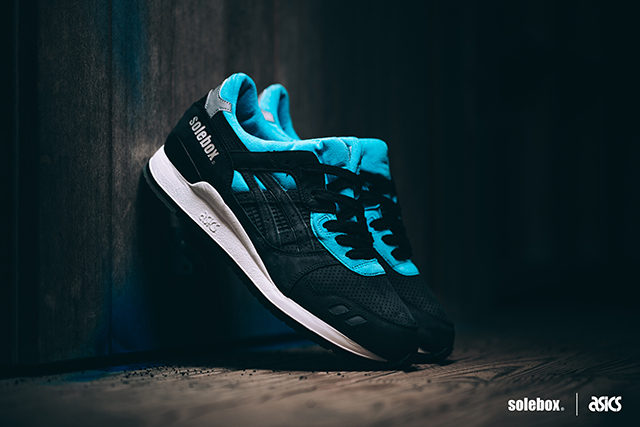 asics solebox gel lyte blue carpenter bee, sneakers uomo