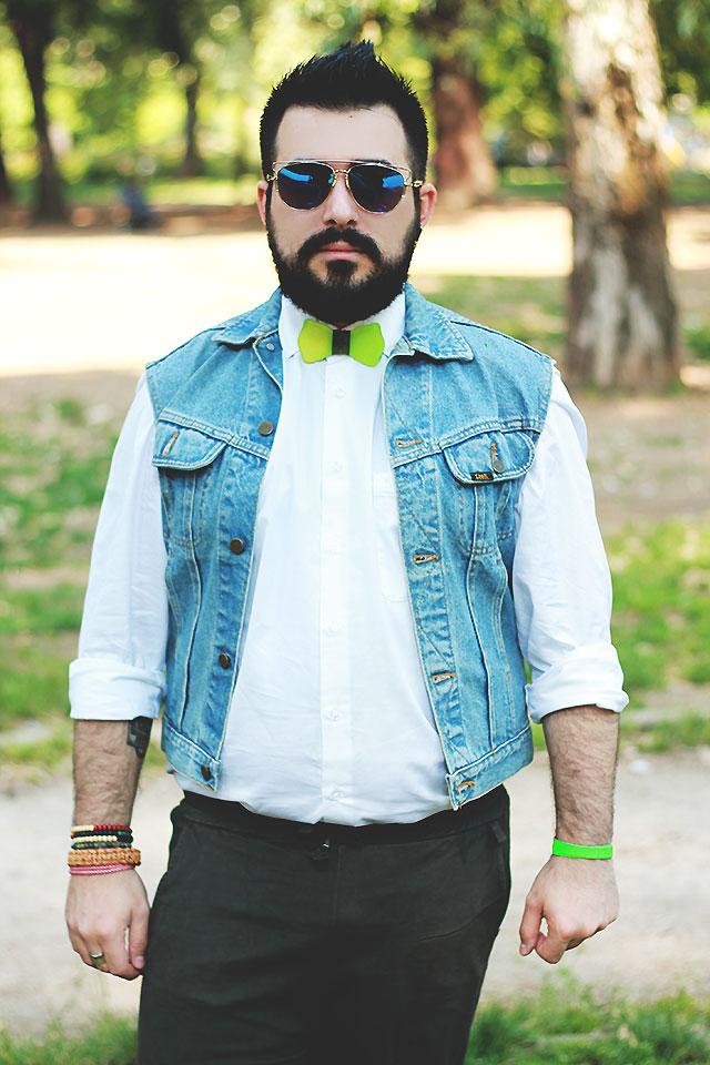 guy overboard, fashion blogger uomo, outfit uomo, papillon vetro, poculum