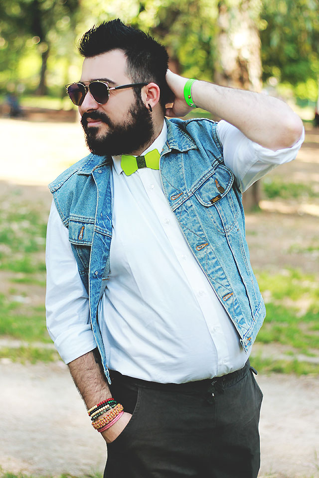 guy overboard, fashion blogger uomo, outfit uomo, papillon vetro, poculum