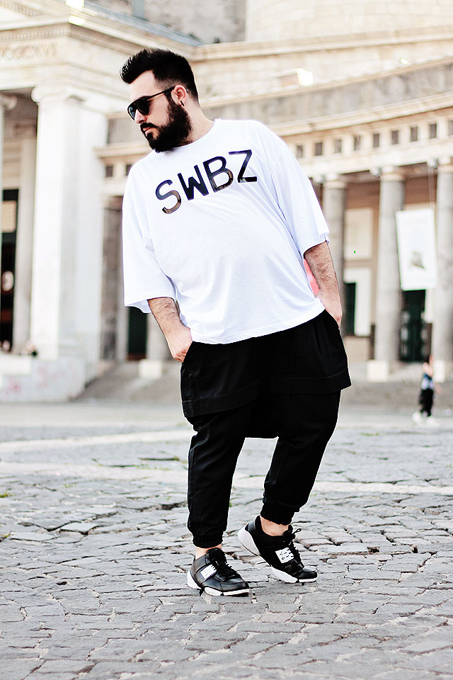 scarpe running, running shoes, y8 fashion, cheap running shoes, outfit guy overboard, fashion blogger uomo plus size