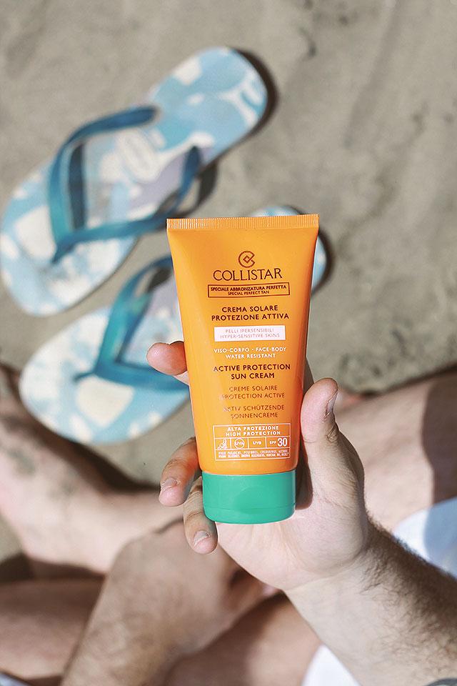 collistar solari, protezione 50, speciale abbronzatura perfetta, crema solare protettiva