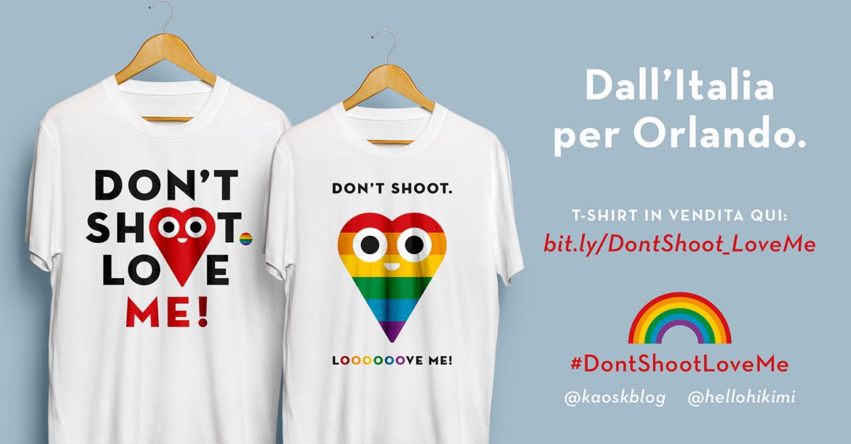 La t-shirt italiana a sostegno delle vittime della strage di Orlando. Il ricavato verrà interamente devoluto al fondo ufficiale GoFundMe per le vittime