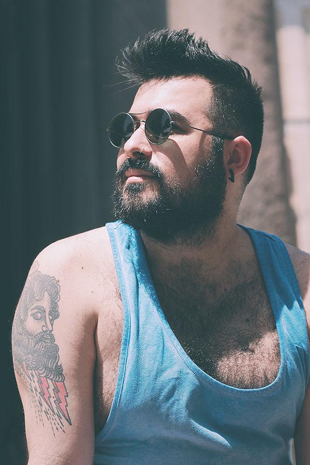 occhiali da sole rotondi uomo altalana, man round sunglasses