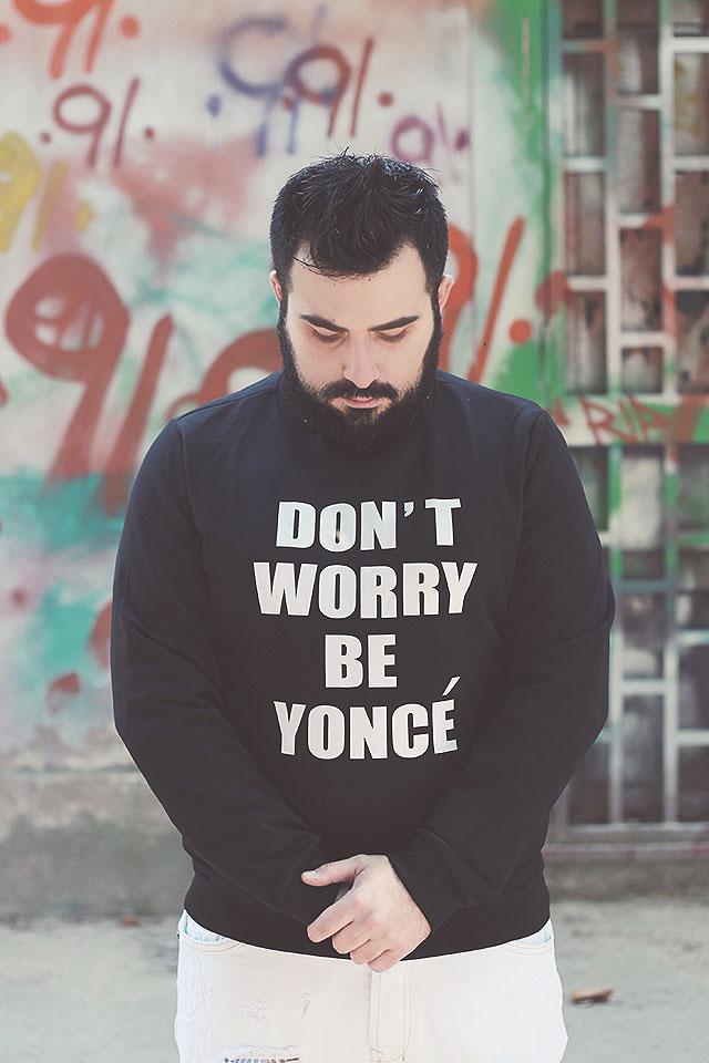 Don't Worry Be Yoncé, Felpa Beyoncé, Printed Long Sleeve O Neck Sweatshirt