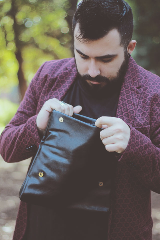 dresslily, clutch in pelle uomo, man clutch, leather clutch, man outfit