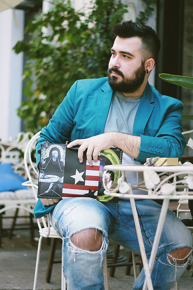 clutch da uomo, tendenze 2016, man clutch, outfit, guy overboard, fashion blogger