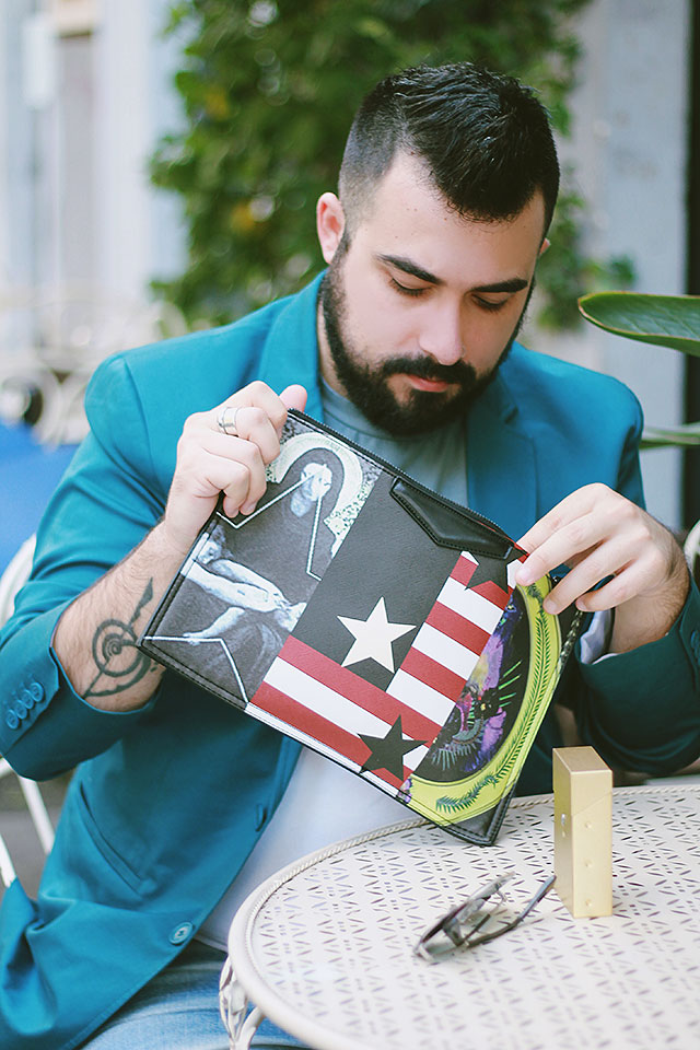 clutch da uomo, tendenze 2016, man clutch, outfit, guy overboard, fashion blogger