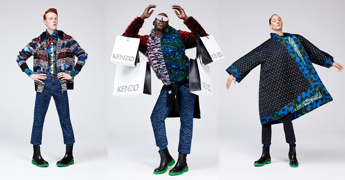 All the items and looks of the men capsule collection that H&M created in collaboration with Kenzo and its creative directors Humberto Leon and Carol Lim