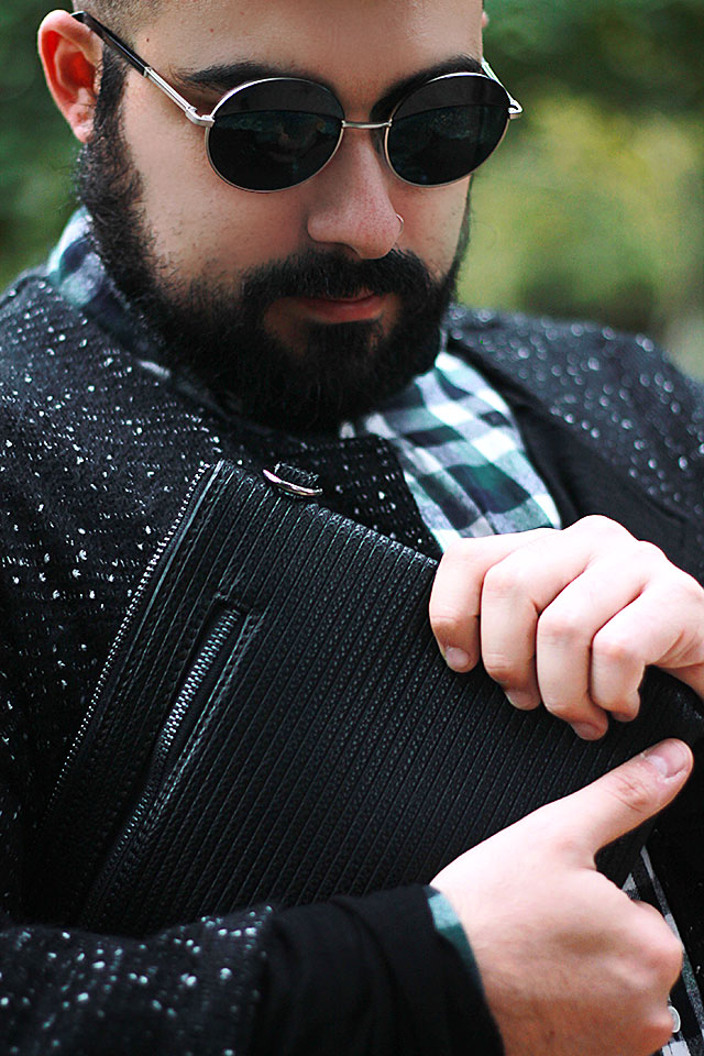 Dresslily Men Zip Clutch Guy Overboard Plus Size Fashion And