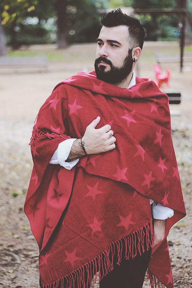 maxi sciarpa uomo, men shawl, outfit uomo inverno 2016, fashion blogger uomo roma, plus size male fashion blogger