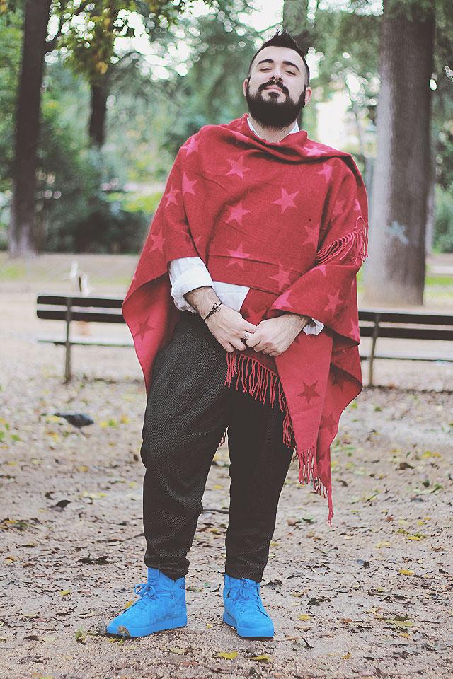 maxi sciarpa uomo, men shawl, outfit uomo inverno 2016, fashion blogger uomo roma, plus size fashion blogger