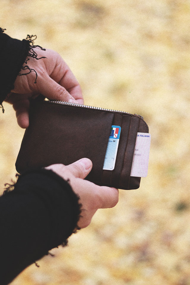 kjøre project, phone cards clutch wallet colored zip