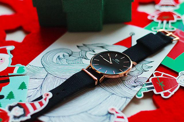 Daniel Wellington Classic Black Cornwall, regali natale uomo orologio
