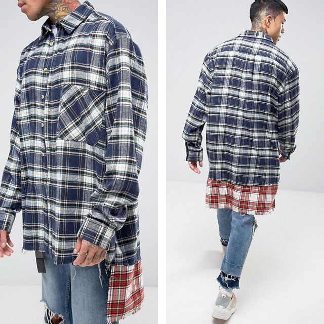 asos fashion week, skate '95, abbigliamento stile grunge, tshirt band, camicia flanella