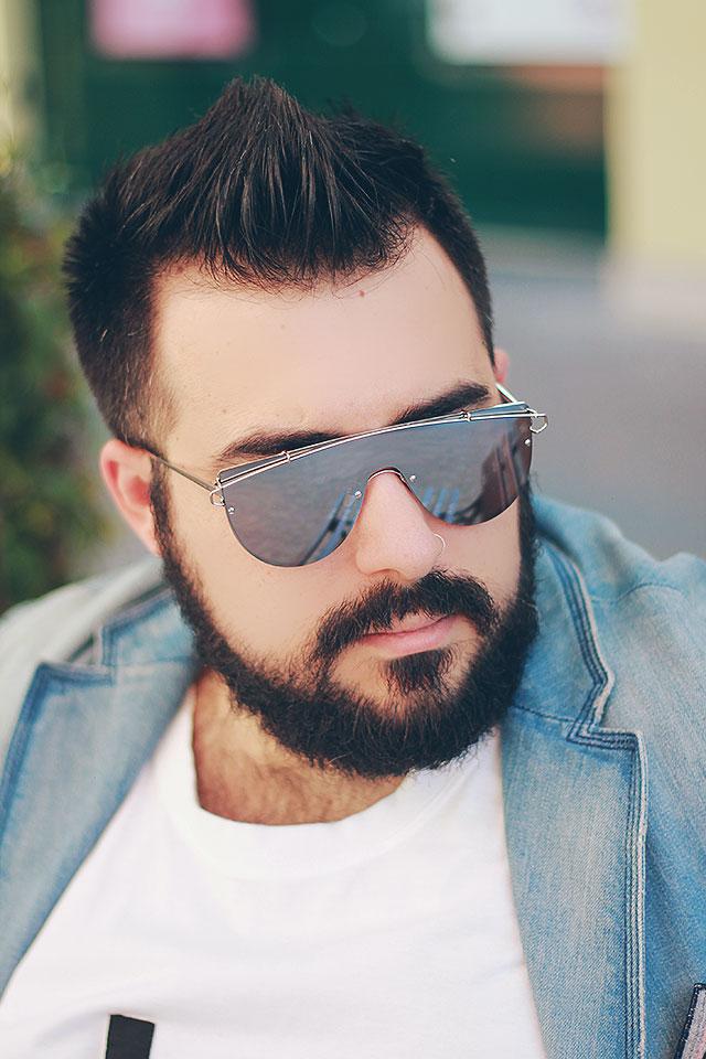 Occhiali da sole Uomo estate 2017, Rimless Mirrored Square Sunglasses, Trapezoid Pilot Sunglasses, Mirrored Sheild Sunglasses