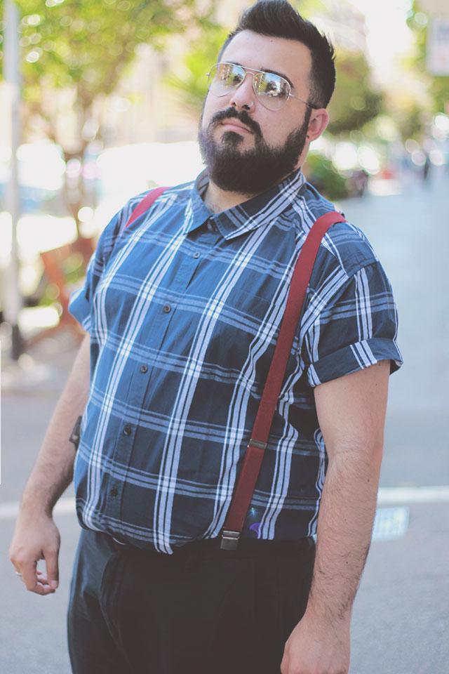 camicia da uomo a maniche corte, outfit man plus size badrhino