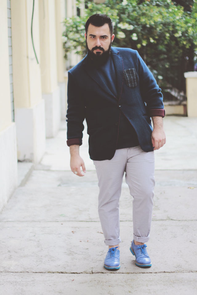 pantaloni chino Baronio, outfit estate plus size uomo, plus size men