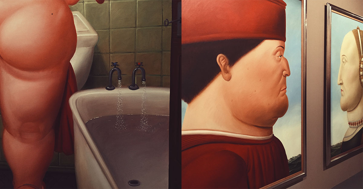 Until August 27, Complesso del Vittoriano hosts the first great retrospective of Botero's work in Italy, with a careful selection of 50 works