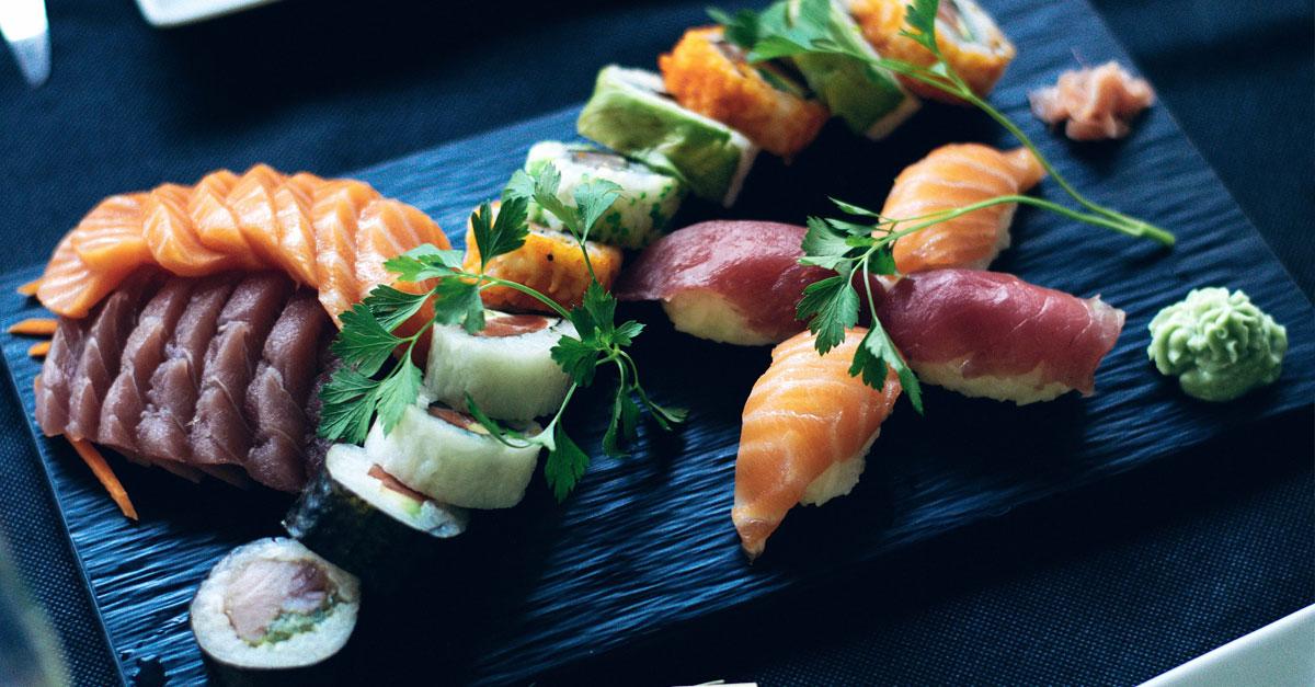 cena giapponese, sushi sashimi